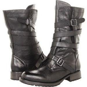 Steve Madden P-Ashtin mid calf black leather boots